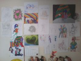 My wall. by InvaderSonicMx