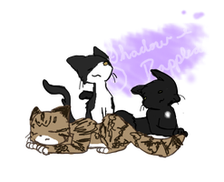 Scribble Commish: Meeebles' kitties by Shadow-Dappled