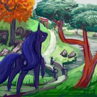Canterlot Gardens 4 by Dahtamnay