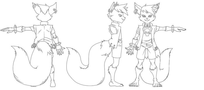 Mcfoxx Model-sheet by voltesfibz