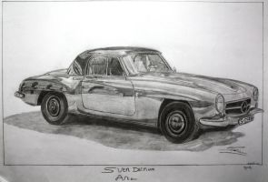 Mercedes-Benz 190SL by SD1-art