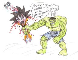 HULK VS GOKU by BLUEHAWK-55