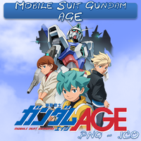 Mobile Suit Gundam AGE ICO,PNG & Folder by bryan1213