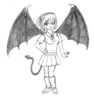 The Succubus Kurumu by Cartoon-Eric