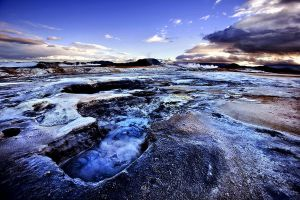 Boiling Mud Pools of Namafjall by justinblackphotos