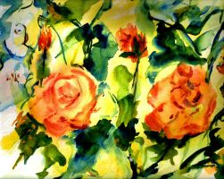 Roses 2  LProctor by LaurieLefebvre