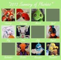 Looking Back: 2013 Plushies by CoffeeCupPup