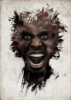 the angry man by OMARAHMEDDESGINER