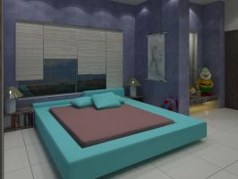 Children Bed Room For Suku by psd0503
