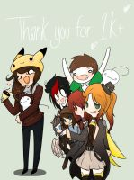 .: Thank you for the 1K! :. by LittleMissZKits