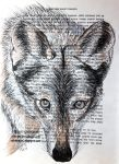 Wolf (Old Book Page) by Olvium