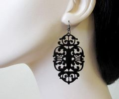 Baronyka Mystery - Victorian lace statement earrin by baronyka