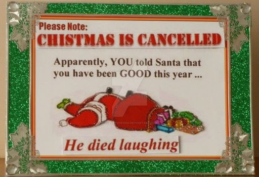 A comedy Card for Christmas by blackrose1959