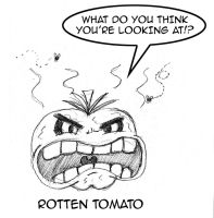 A Rotten Tomato by Cartoon-Eric