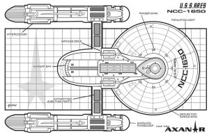 U.S.S Ares Top Schematic by stourangeau