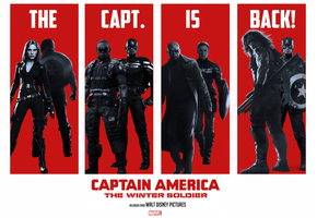 Captain America: The Winter Soldier Poster Mashup by Jarvisrama99