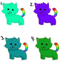 DTA Chibi Rainbow Tailed Cat Adoptables (OPEN) by DreamAdopts713