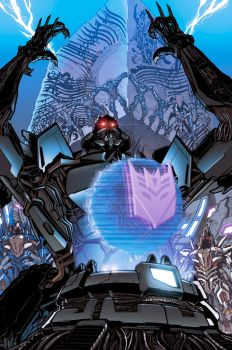 Reign of Starscream 4 cover by dyemooch