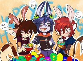 Easter bunnys for real... by Edheloth