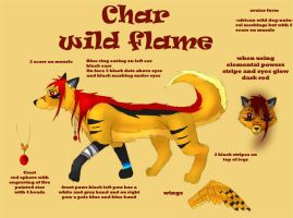 char wild flame ref by true-crystalwolf