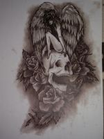 Protection after death Tattoo design by Mezza123