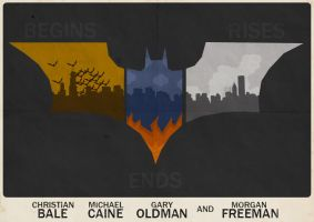 Batman (Nolan Trilogy) Poster by W0op-W0op