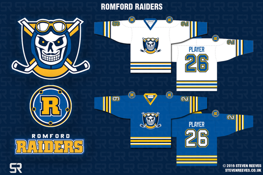 Romford Raiders - Rebrand by wildwing64