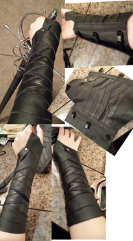 Leather bracers 3.0: Gamora by CaptainMorganTeague