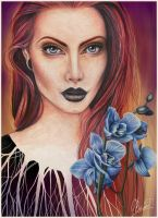 Blue orchid by RayneColdkiss