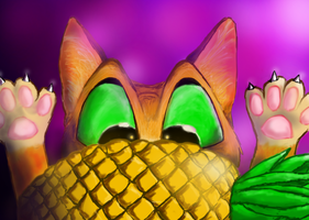 Pineapple Cat by TheKaynu