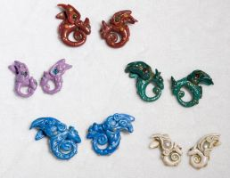 Polymer Clay Dragon Pairs by amazoncat