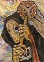 ACEO - Steampunk-Reaper by BloodhoundOmega
