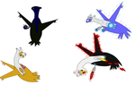 All of my forms by Latias4ever