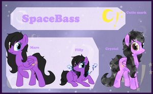 Reference sheet: SpaceBass by StarDust-Adoptables