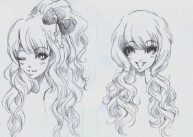 Gyaru hair by Nina-D-Lux