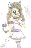 Anime Kitty Girl Colored by XxPoisonlollypopxX