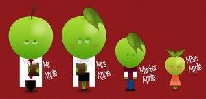 Happy Families 1: Apple Family by the-dumb-waiter