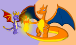 Charizard and Spyro by SpyroUp