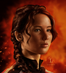 Katniss- The girl on fire by LuzTapia