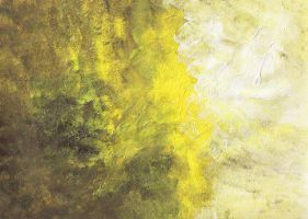 Abstraction YellowWhiteBrown by Kat1304