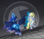 Portal 2 Luna and Derpy by ZantyARZ