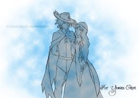 COMMISSION: Aaron + Leen by Arlequinne