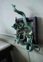 Lovecraftian Horror Frame Green Blue 9 by NomadStudioDesigns