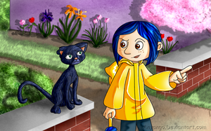 ::-Coraline and The Cat-:: by Starimo