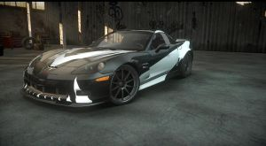 chevy corvette. cross NFS carbon. the run by daz1200