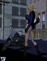 Black Canary Streets Pin Up by ImfamousE