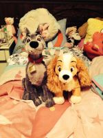 Lady and The Tramp Plushies! C: by SoniatheHedgehog365