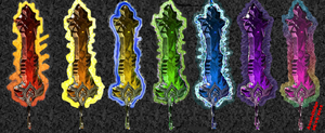 Rainbow Prismere Greatswords (my interpretation) by AussieDidge