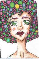 crazy afro girl by TheLuckyStarhopper