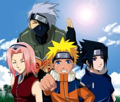Naruto- TEAM 7 XD by meru-chan